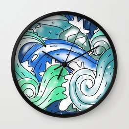 Only Waves Wall Clock