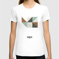 washington T-shirts featuring Geometric Washington by INDUR