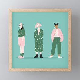 Girl Gang Framed Mini Art Print
