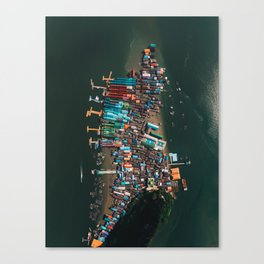 Koh Panyee From Above Canvas Print