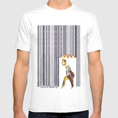 Consumer Protection MEDIUM White Mens Fitted Tee
