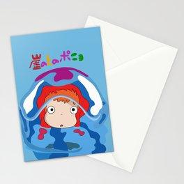 gake no ue no ponyo Stationery Cards