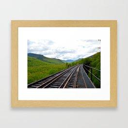 On an outbound train; Framed Art Print