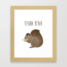 Tisha B'av Squirrel and Book of Lamentations Framed Art Print