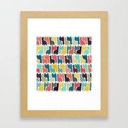 baby llamas Framed Art Print