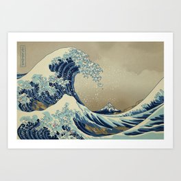 The Great Wave off 2049 Art Print