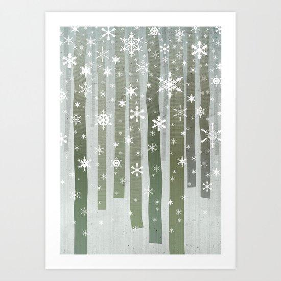 First Snow Art Print