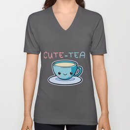 Cute-Tea Cup Tea-Lover Drinks Healthy Plant Gift  Unisex V-Neck