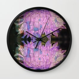Reflective Crackling Lonesome Flower Wall Clock