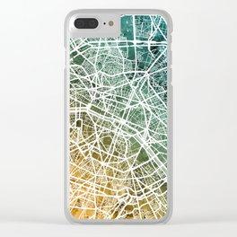 Paris France City Street Map Clear iPhone Case