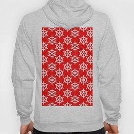 Ship Wheel (White & Red Pattern) Hoody