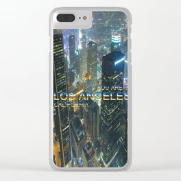 TimeLAX: You are in Los Angeles California Clear iPhone Case
