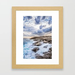 Crashing Waves At Prospect, Nova Scotia #3 Framed Art Print