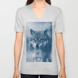 Wolf and Snow Unisex V-Neck