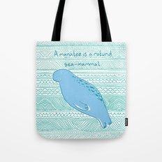 Manatees are Rotund Sea-Mammals Tote Bag