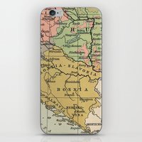 vintage map iPhone & iPod Skins featuring Vintage Map by littlehomesteadco