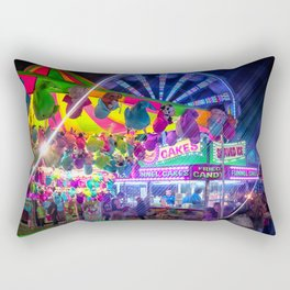 Fun Fun and Funnel Cakes at the carnival Rectangular Pillow