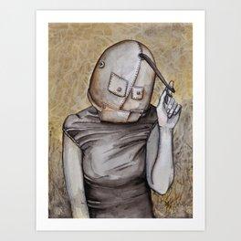 Coy conformity Art Print