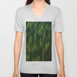 The Green Forest (Color) Unisex V-Neck