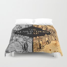 Marauders Map Duvet Cover