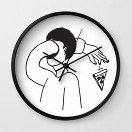 Passe-moi une pizz Wall Clock
