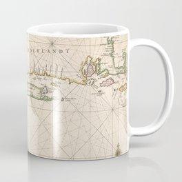 Vintage Map of New Netherland (1672) Coffee Mug
