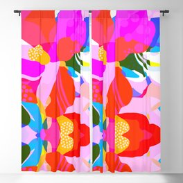 Abstract Florals I Blackout Curtain