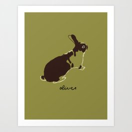 Oliver the Bunny Art Print