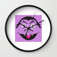 sesame street Wall Clocks featuring Sesame Street Count by Jconner