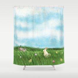 Easter Prairie 1a Shower Curtain