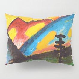 'Loneliness,' A Sunset Mountain Landscape by Alexej von Jawlensky Pillow Sham