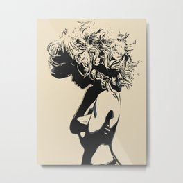 Like a Lion, sexy stencil art Metal Print
