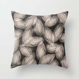 Fallen Fairy Wings - Silver Screen Edition Throw Pillow