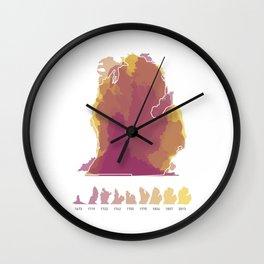 Mitten Rewritten Wall Clock
