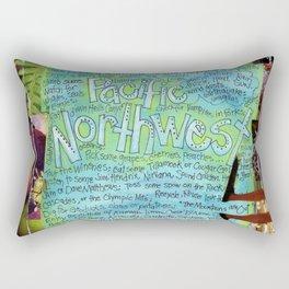 Northwest by Seattle Mixed Media Artist Mary Klump Rectangular Pillow