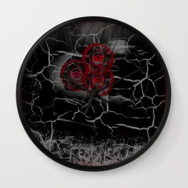 Rose at the end of the Tunnel Wall Clock