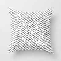 literary Throw Pillows featuring Literary Quotes by Abstract Graph Designs