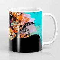 superheroes Mugs featuring Superheroes SF by Irmak Akcadogan