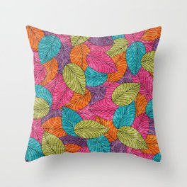 Let the Leaves Fall #13 Throw Pillow