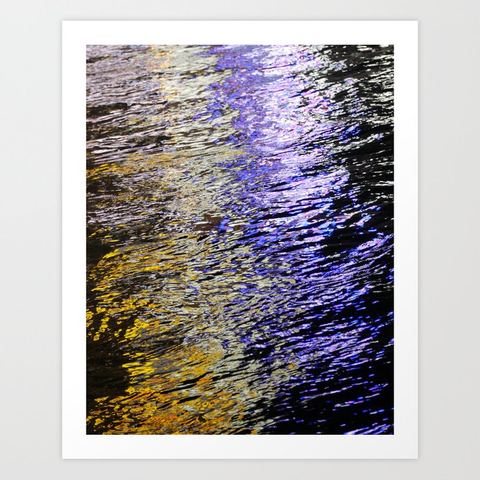 Abstract Lights on River Water in Japan 1 Art Print