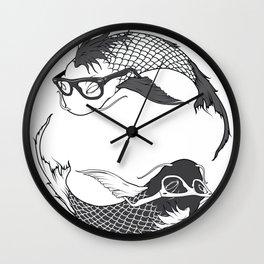 Hipster Koi Wall Clock