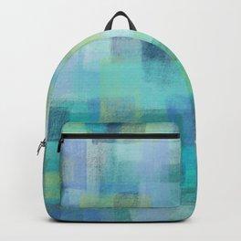 Blue Blocks by Jillian Amatt Designs Backpack