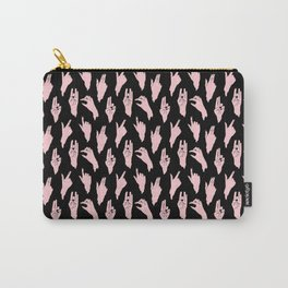 pink n black swipes Carry-All Pouch