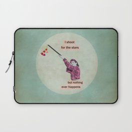i shoot for the stars but nothing ever happens Laptop Sleeve