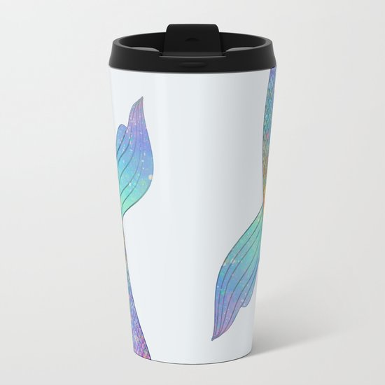 rainbow mermaid tail Metal Travel Mug