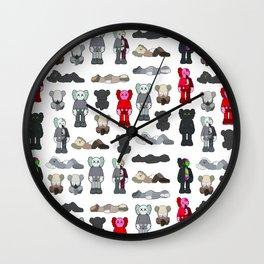Kaws Pattern Figures Wall Clock