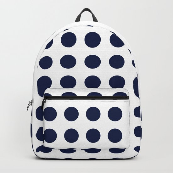 Simply Polka Dots in Nautical Navy Blue Backpack