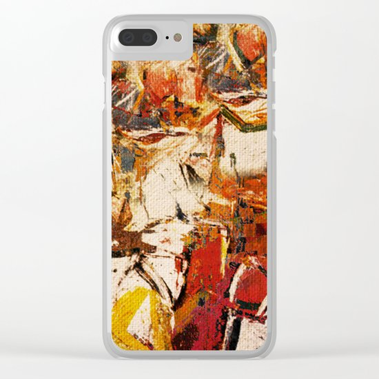 Horse Racing Clear iPhone Case
