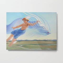 Hermes and the Zephyr Metal Print