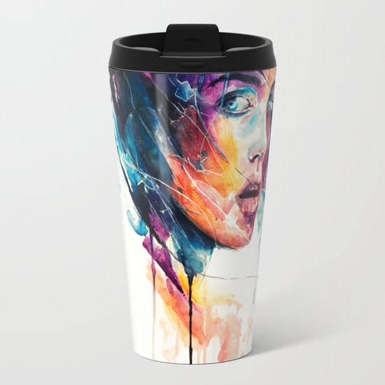 Sheets Of Colored Glass Travel Mug By Agnes Cecile Society6 Colored Glass Sheets